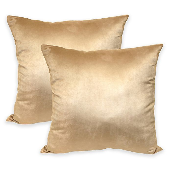 Admirable Suede Square Throw Pillows Set Of 2 Bed Bath Beyond Ocoug Best Dining Table And Chair Ideas Images Ocougorg