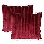 Ridgecrest Square Throw Pillows in Cabernet (Set of 2)