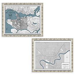 Canada Map Framed Wall Art Collection