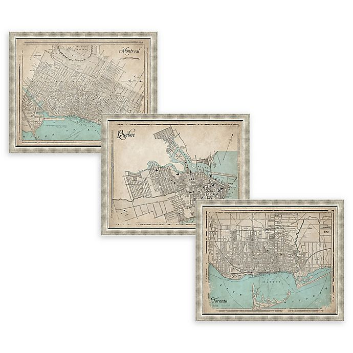 Alternate image 1 for Canada Heritage Framed Map Wall Art in Silver