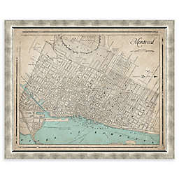 Alberta Heritage Map 34-Inch x 28-Inch Framed Wall Art in Silver