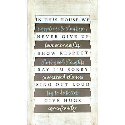Shutter House 32-Inch x 18-Inch Wood Wall Art