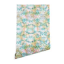 Deny Designs Schatzi Brown Leopard Pattern Wallpaper in Blue/Yellow
