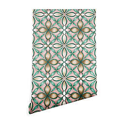 Deny Designs Pimlada Phuapradit Floral Tile Peel & Stick Wallpaper