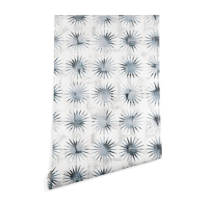 Alternate image 1 for Deny Designs Schatzi Brown Aviana Starburst 2-Foot x 8-Foot Wallpaper in Blue