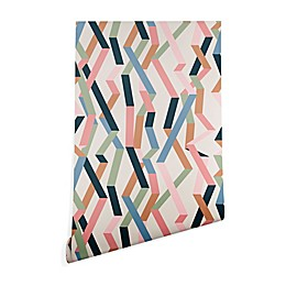 Deny Designs Mareike Boehmer Straight Geometry Ribbon Wallpaper in Beige