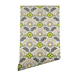 Deny Designs Holli Zollinger Floral Brocade Wallpaper in Beige