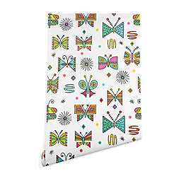 Deny Designs Andi Bird Butterfly Joy Peel and Stick Wallpaper in White