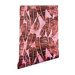 Deny Designs Schatzi Brown Island Goddess Leaf Peel & Stick Wallpaper in Rose