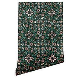 Deny Designs Pimlada Phuapradit Maze 2-Foot x 10-Foot Peel & Stick Wallpaper in Emerald