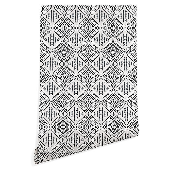 Alternate image 1 for Deny Designs Holli Zollinger Carribe 2-Foot x 8-Foot Wallpaper in Black