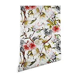 Deny Designs Marta Barragan Camarasa Skulls Blooming Peel & Stick Wallpaper