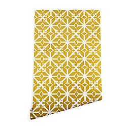Deny Designs Heather Dutton Diamante 2-Foot x 8-Foot Peel & Stick Wallpaper in Yellow