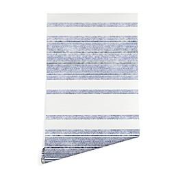 Deny Designs Holli Zollinger Capri Stripes Peel & Stick Wallpaper in Blue