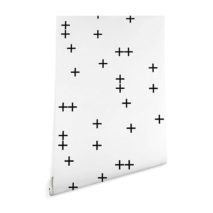 Alternate image 1 for Deny Designs Little Arrow Design Co. Cross Wallpaper in White