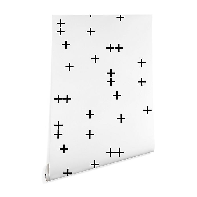 Alternate image 1 for Deny Designs Little Arrow Design Co. Cross 2-Foot x 8-Foot Wallpaper in White