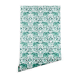 Deny Designs Jacqueline Maldonado Elephant Wallpaper in Green