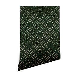 Deny Designs Marta Barragan Camarasa Vintage 2-Foot x 8-Foot Peel & Stick Wallpaper in Emerald