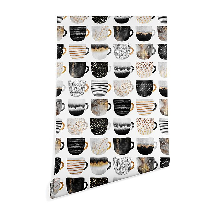 Alternate image 1 for Deny Designs Elisabeth Fredriksson Pretty Coffee Cup 2-Foot x 10-Foot Wallpaper in White