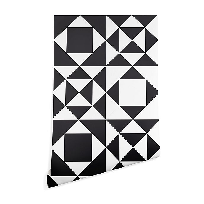 Alternate image 1 for Deny Designs Heather Dutton Rhythm 2-Foot x 8-Foot Wallpaper in Black