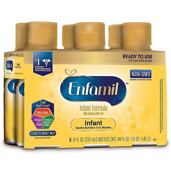 Alternate image 1 for Enfamil® Infant 6-Pack Premium Ready-to-Feed Formula Bottles