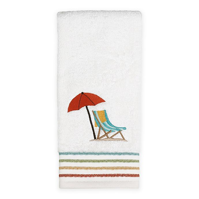 Alternate image 1 for By the Surf Hand Towel in White