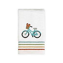 By the Surf Fingertip Towel in White