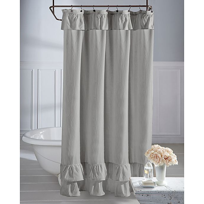 WamsuttaR Vintage Ruffle Shower Curtain