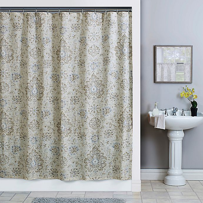 Alternate image 1 for Sariz 72-Inch x 84-Inch Shower Curtain in Pearl