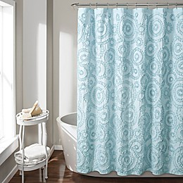 Keila Shower Curtain in Blue