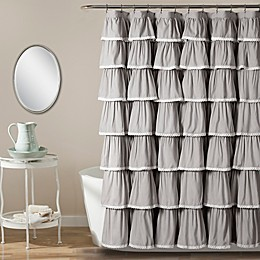 Emily Shower Curtain in Grey