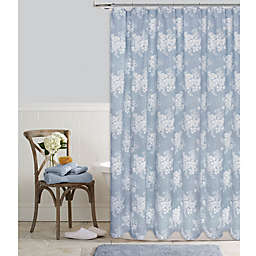 Colordrift Cabbage Rose Shower Curtain