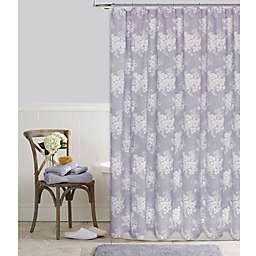Cabbage Rose 72-Inch x 84-Inch Shower Curtain in Lavender