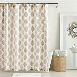 Avery Shower Curtain in Sea Fog