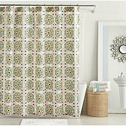 Mila Shower Curtain in Lotus