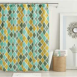 Devyn Shower Curtain in Aqua