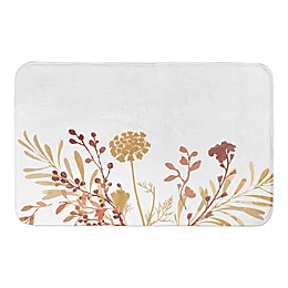 Designs Direct Harvest Floral 34-Inch x 21-Inch Bath Rug in Orange