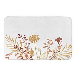 Designs Direct Harvest Floral 34-Inch x 21-Inch Bath Rug in Orange
