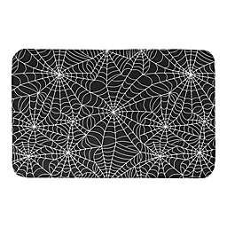"Designs Direct Spider Web 34"" x 21"" Bath Mat in Black"