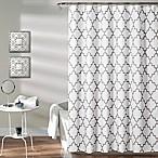 Bellagio Trellis Shower Curtain in Grey