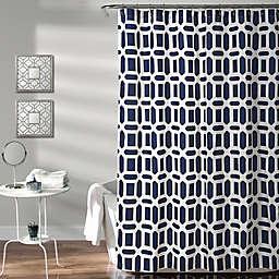 Sequoia 72-Inch x 72-Inch Geometric Shower Curtain