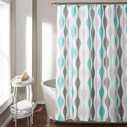 Mid-Century Geometric Shower Curtain