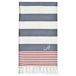 Linum Home Textiles Patriotic Pestemal Beach Towel in Ocean Blue