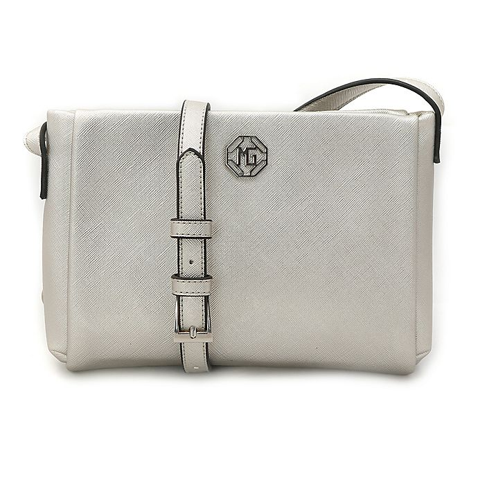 Alternate image 1 for Marina Galanti Saffiano Crossbody Bag in Silver