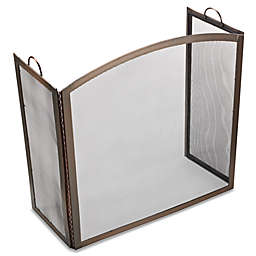 UniFlame® S-1307 3-Panel Antique Copper Screen with Arch