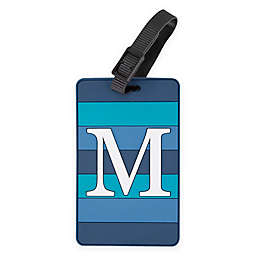 Travelon® Monogrammed Letter Luggage Tag in Blue