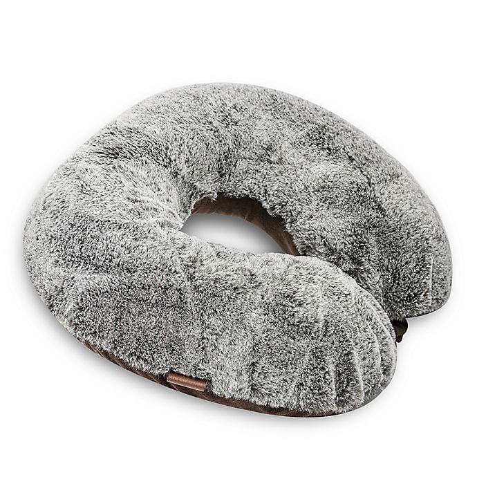 Alternate image 1 for UGG® Dawson Memory Foam Travel Pillow in Faux Fur