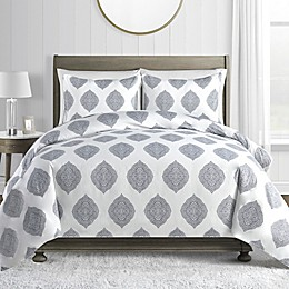 Printed 450-Thread-Count Cotton Sateen 3-Piece Duvet Cover Set