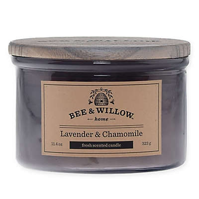 Bee & Willow™ Home Lavender & Chamomile 12 oz. Short Jar Candle in Purple