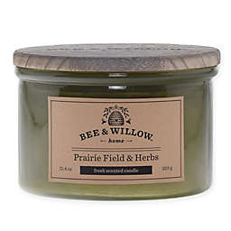 Bee & Willow™ Home  Prairie Field & Herb 12 oz. Short Jar Candle in Green